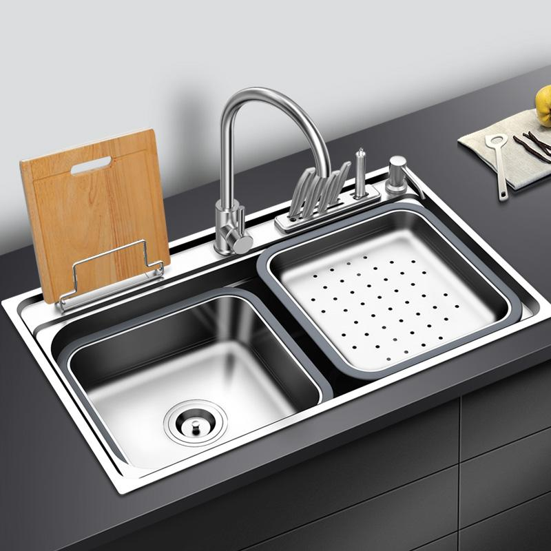 2021 Kitchen Sink Stainless Steel With Cutting Board Rack Above Counter Or Udermount Single Bowl Sinks Vegetable Washing Sink Kitchen From Pet Friends 196 83 Dhgate Com