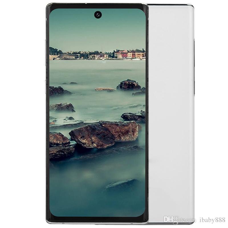 """6.8 """"펀치 구멍 화면 Goophone N10 + 3G WCDMA 쿼드 코어 MTK6580 1기가바이트 8기가바이트에서 디스플레이 지문 얼굴 ID 안드로이드 9.0 16.0MP 카메라 스마트 폰"""