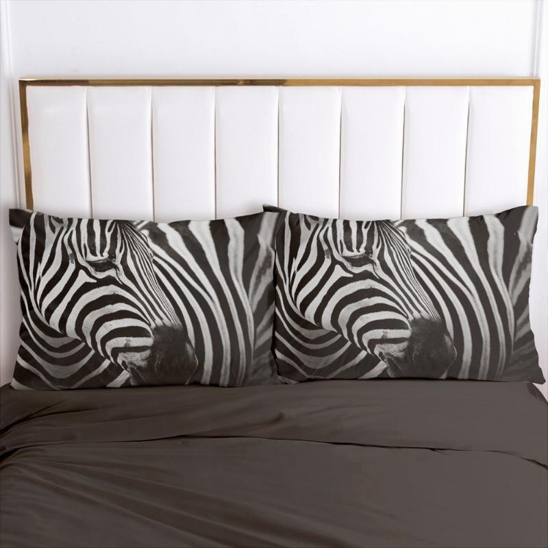 3D fundas de almohada Funda de almohada silla suave decorativo del hogar fundas de almohada cubierta 20x26in 51x66cm 50 * 75 animales de la cebra Diseño Impreso