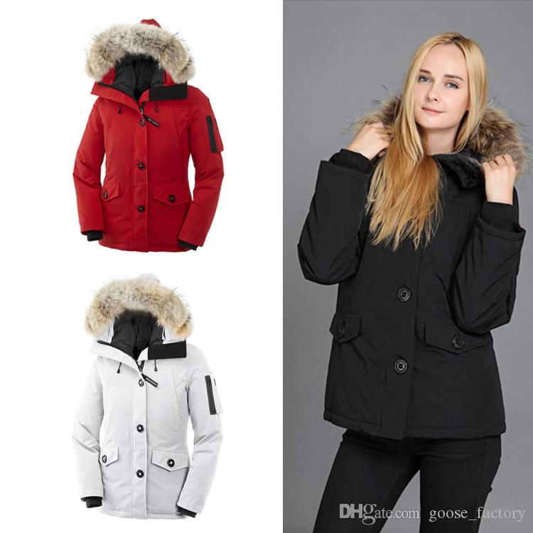 2020 TOP Women GOOSE Down Jacket Wolf Hair Winter Women Coats Outdoor Down Parkas Womens Designer Winter Coats Size XS-2XL