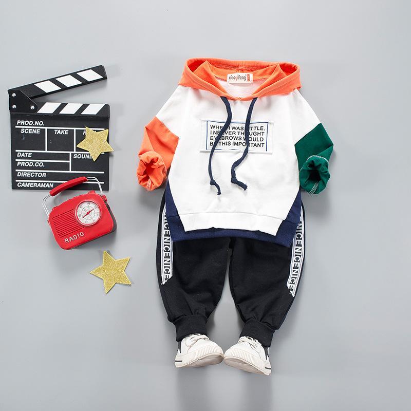 la caída de la ropa del Niños Winte Letter niños vestidos para niños usan ropa del salto de la cadera de manga larga del juego del deporte + pantalones de las muchachas sudaderas