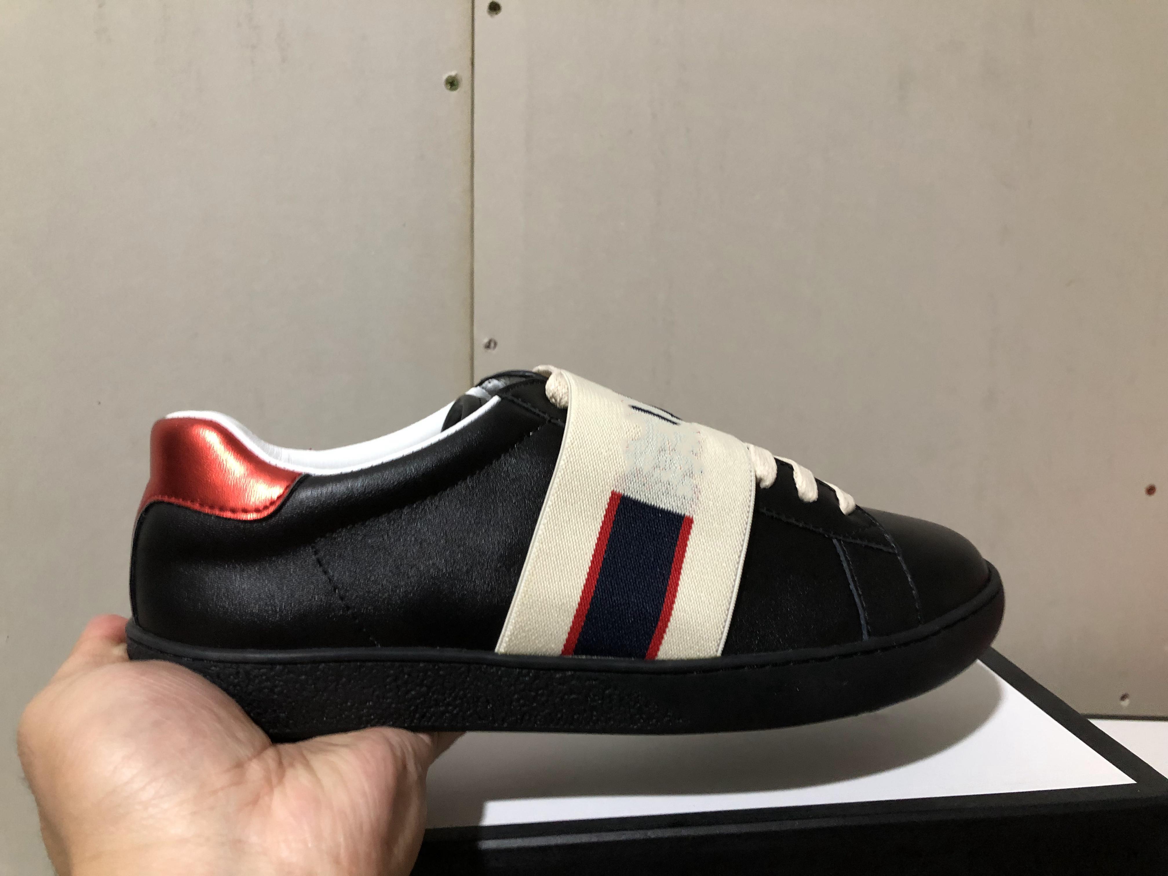 Klassisch! Beste Qualität Designer Schuhe weiß rot Leder Designer Sneaker Marke Mens Womens Casual Biene Schuhe mit Box Größe 35-46