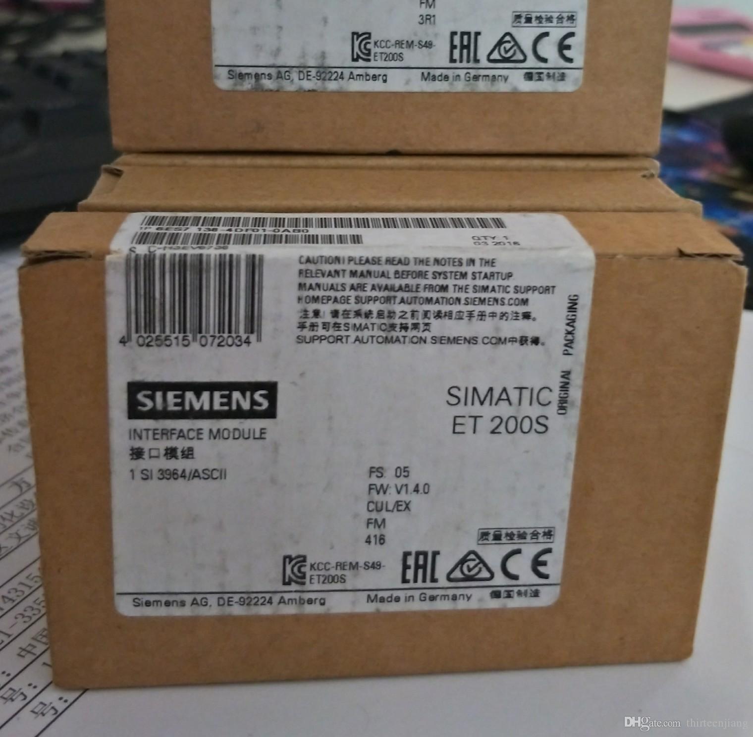 1 PC Siemens SIMATIC ET200S Módulo de Interface Serial 6ES7138-4DF01-0AB0 Novo Na Caixa Frete Grátis Expedido