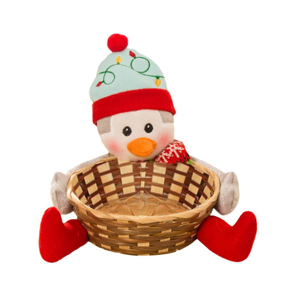 C Muñeca Navidad Papá caramelo cesta del almacenaje de las decoraciones de los Niños cesta Caramelo de la fruta Decoración Cuenco Decoración regalos FS20