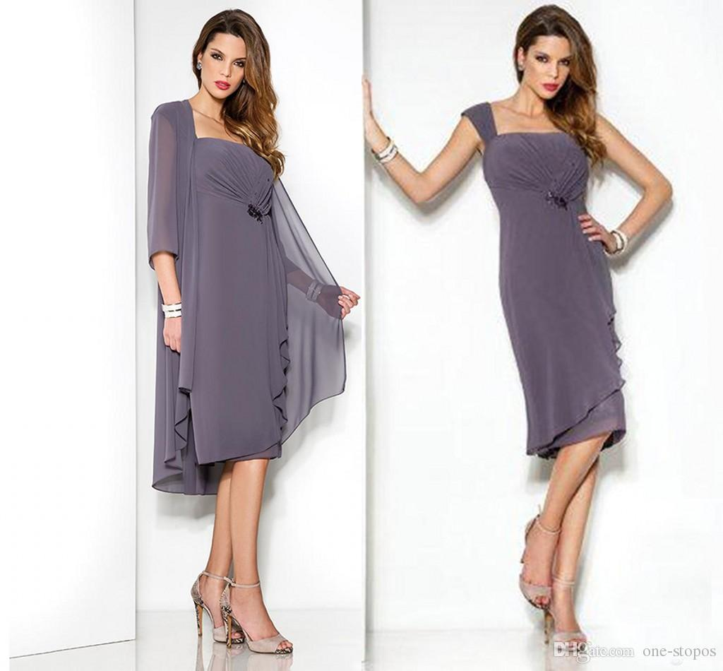 Großhandel 18 Modest Abendkleider Elegante Kleider Für Die Brautmutter  Anzüge Formale Arabische Party Mutter Bräutigam Kleider Mit Jacke Von One