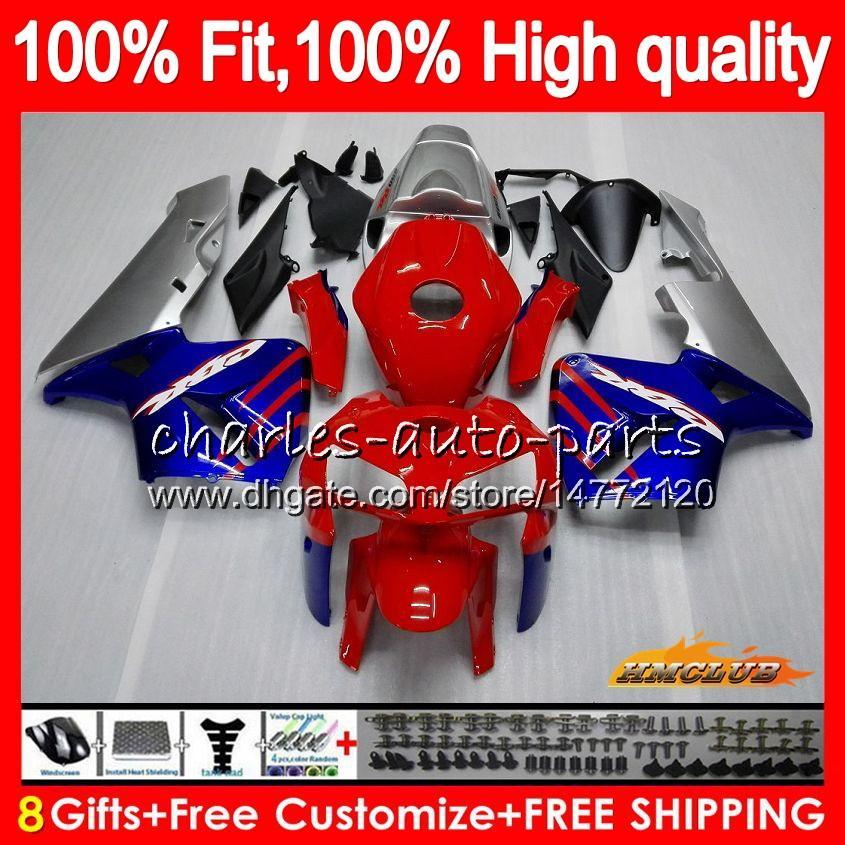 Iniezione rosso stock muffa blu per HONDA CBR600RR CBR600 RR 2005 2006 80HC.24 CBR600F5 CBR 600RR 600F5 05 06 CBR 600 RR F5 05 06 carenatura OEM