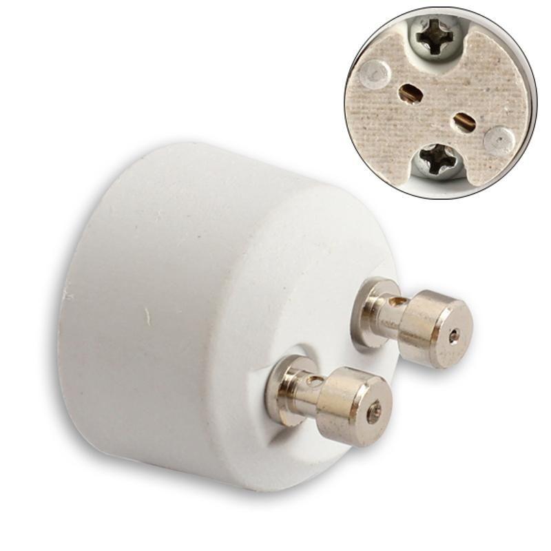 Bulb Branco GU10 Para MR16 soquete Base de luz de halogéneo Lâmpada Adapter Converter High Temperature Titular Resistência Lamp Conversão