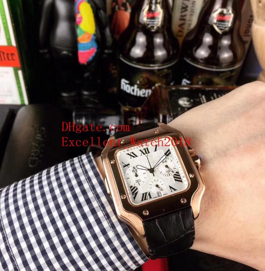 Verkaufen 4 Hot Die Classic Series Herrenuhren 40 mm 100 XL WSSA0017 WSSA0009 18 Karat Roségold VK Quartz Chronograph Arbeitslederband Herren