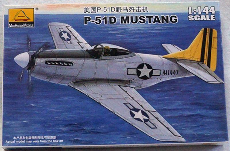 Aerei da combattimento modello militare Assemblare kit 1/144 US P-51D MUSTANG 80406