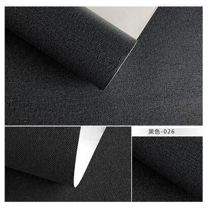 Papier peint non tissé de couleur pure chinoise, lin, paille, lin, salon, bureau, télévision, papier peint