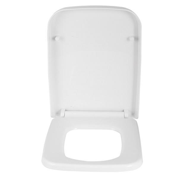 Quadrato bianco Toilet Seat Soft Close Quick Release a portafoglio Top Fix NCG 199