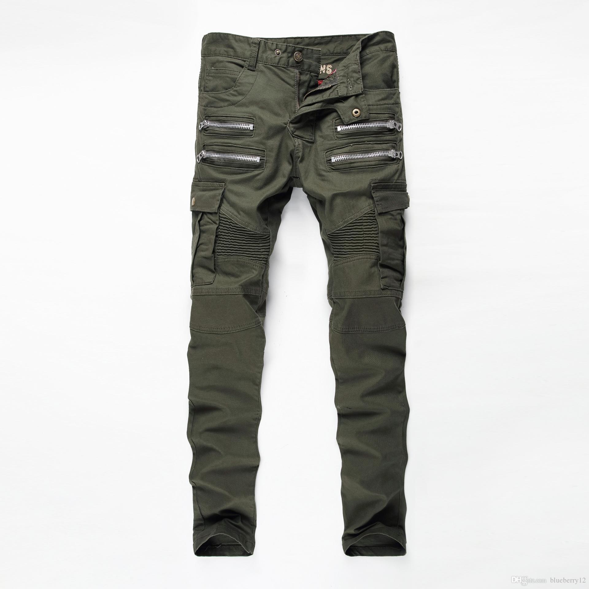 Erkek Jeans Yeni Moda Erkek Retro Biker Jeans Dar Kesim Düz Vintage Motosiklet Denim Pantolon Erkek Boyutu 29-38 İçin