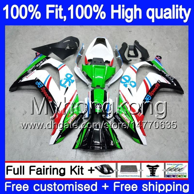Инъекции для KAWASAKI ZX1000 ZX 10 R 2011 2012 2013 2014 2015 218MY.0 ZX 10R 1000CC ZX-10R ZX10R 11 12 13 14 15 OEM обтекатели завод зеленый