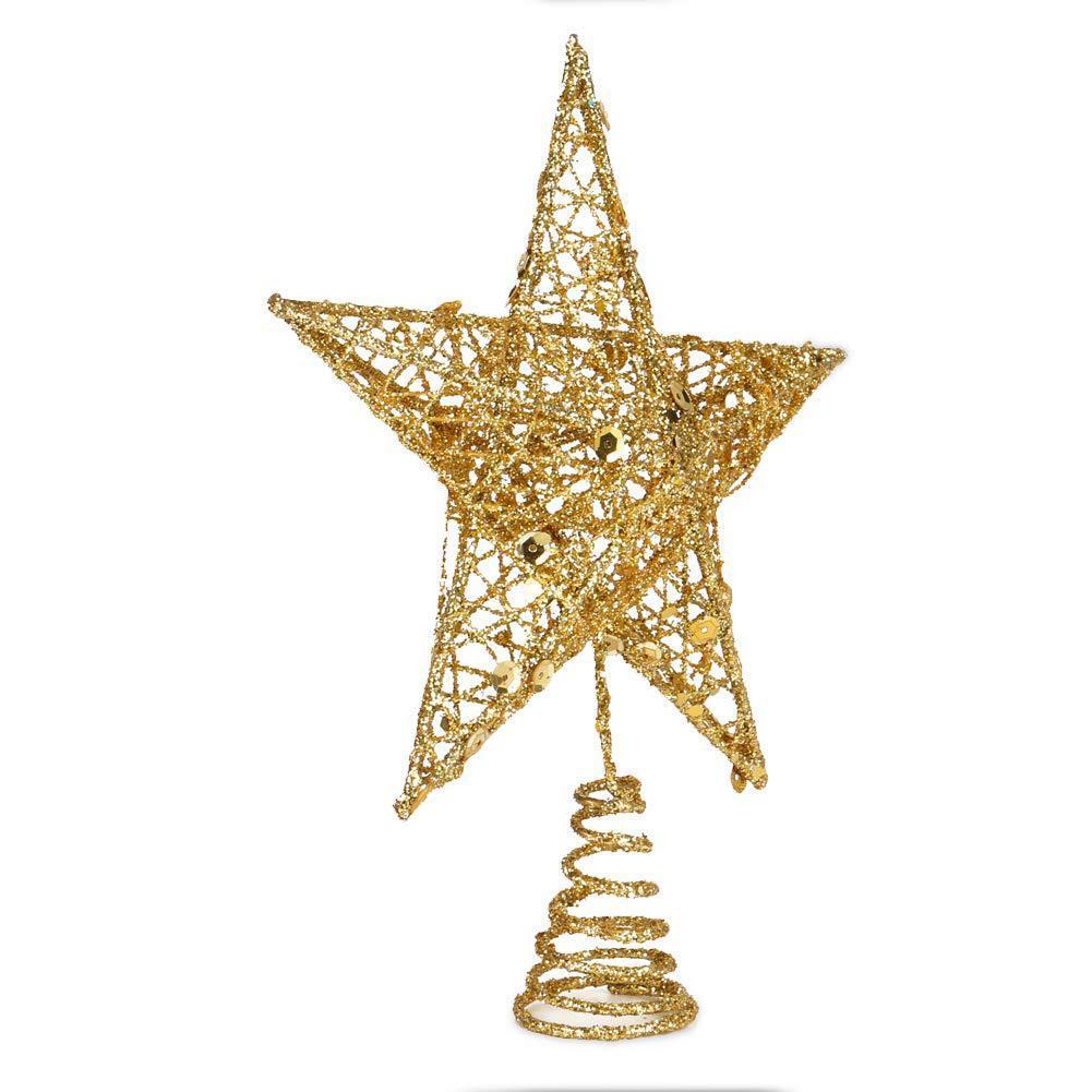 Meetee 3D Christmas Tree Top arbre d'étoile étoile étoile Décorations de Noël Cinq ferrés de Noël Ornements Art CR147