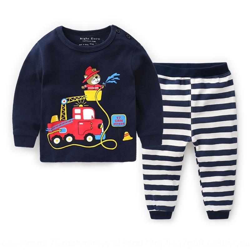 Txip8 Boyscotton conjunto de ropa interior 2020 Nuevo resorte de la ropa de los niños bebé de los pantalones otoño ropa del otoño de los niños pijamas ropa interior 1 children'sJ