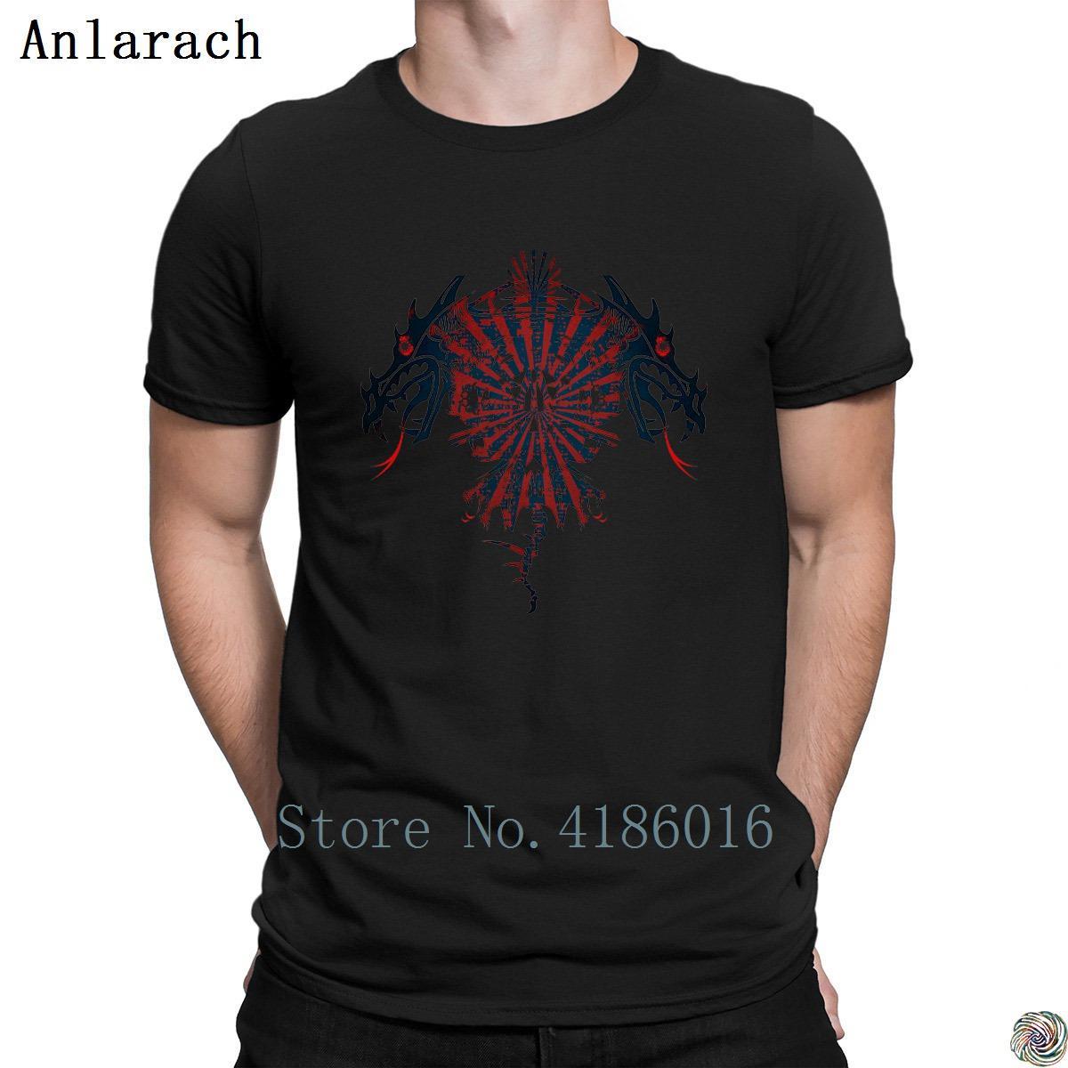 Dragon Comical HipHop Fitness normal de coton T-shirt unisexe hommes Designs Anlarach Printemps Automne