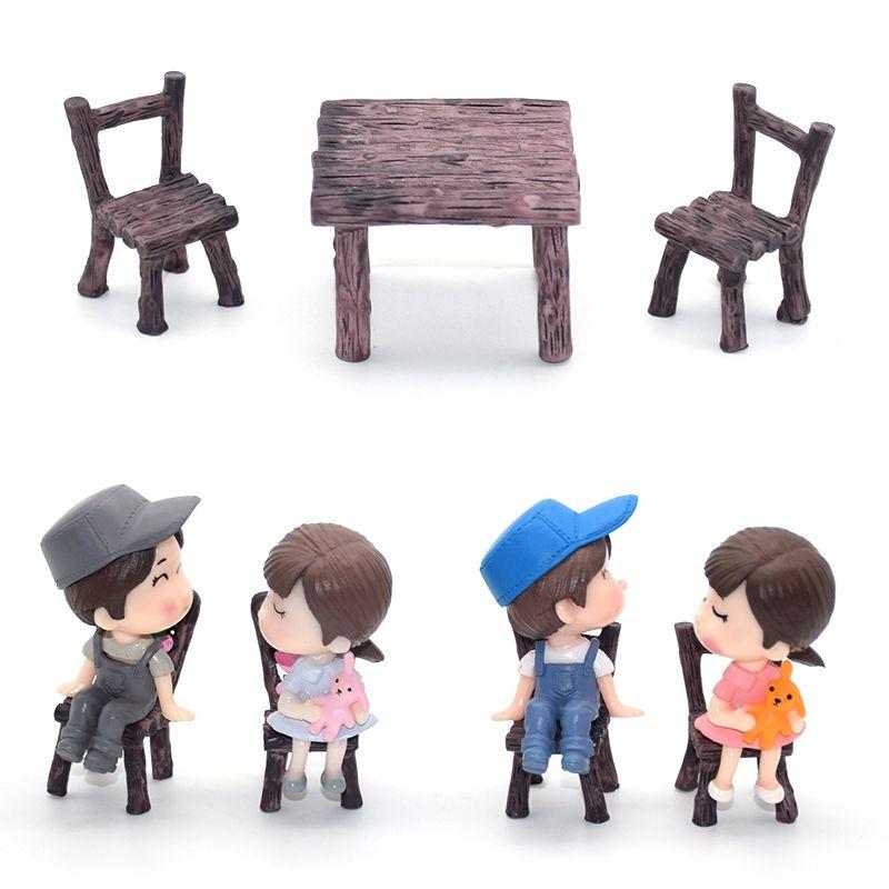 Miniature Fairy Garden Micro Landscape Dollhouse Bonsai Decor Chair Table