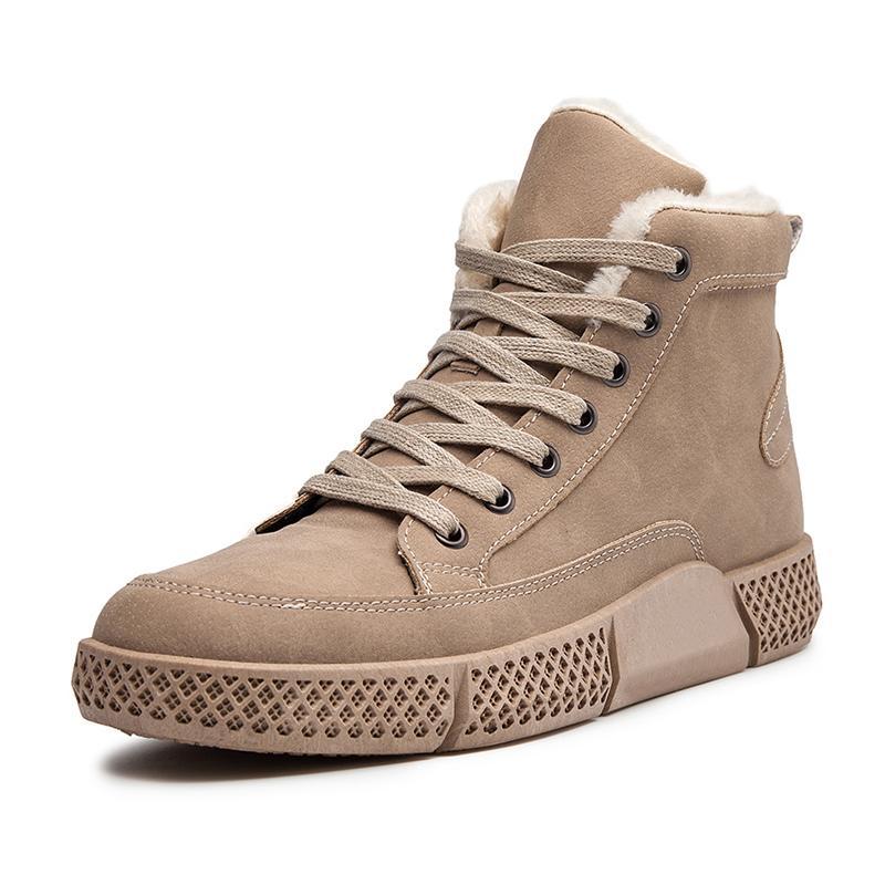 أحذية الرجل عارضة للجودة الدافئة الكبار أحذية الثلج شتاء جديد موضة عتيقة أحذية الرجال الأحذية