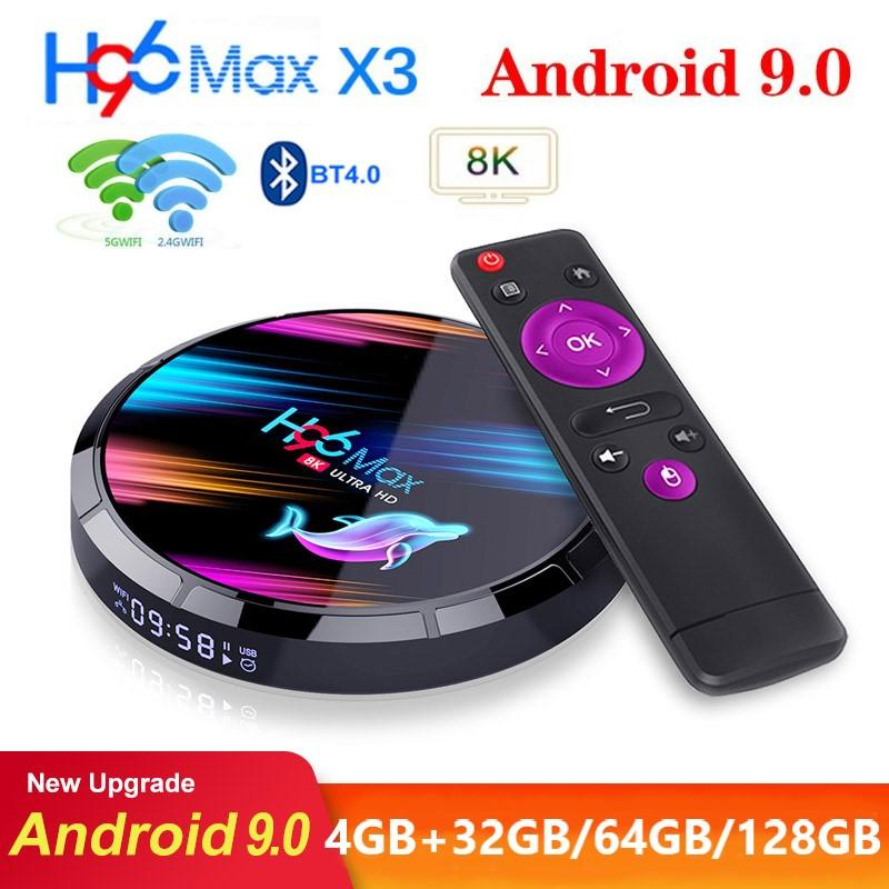 H96 최대 X3 Amlogic S905X3 안드로이드 9.0 TV 박스 4기가바이트 + 32기가바이트 / 64기가바이트 / 1백28기가바이트 듀얼 무선 2.4G + 세대와 BT 년 Caja 드 텔레비젼 안드로이드