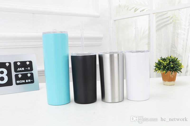 Стакан из нержавеющей стали 12 унц. Бутылка для воды с вакуумной изоляцией прямо чашку с крышкой и соломкой путешествия колбу кружка кофе бесплатная доставка