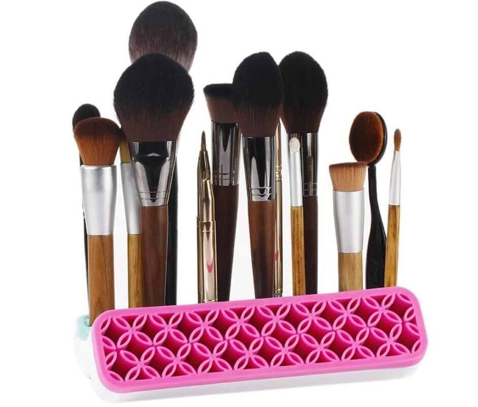 Maquiagem Silicone Escova Titular Organizador Facial Compõem Escova De Secagem de Rack Forma de Flor Escovas de Exposição Prateleira Beleza Cosméticos