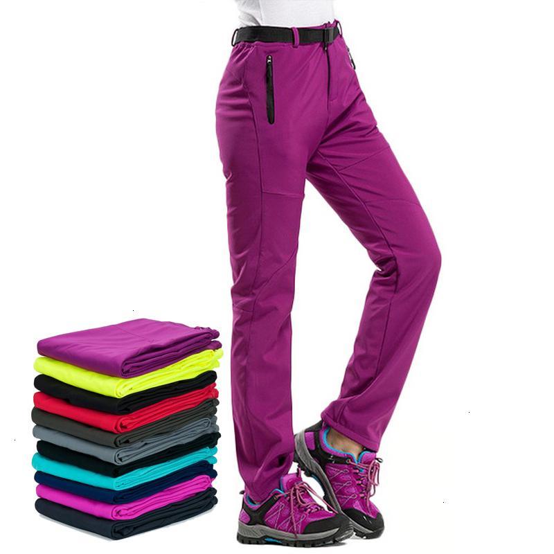 Damen Leggings Damen-Hosen-Winter-warme Hosen für Frauen Thick Futter Rot Schwarz Thermal Frauen Hosen Wasserdichte Damen Hosen Aw195