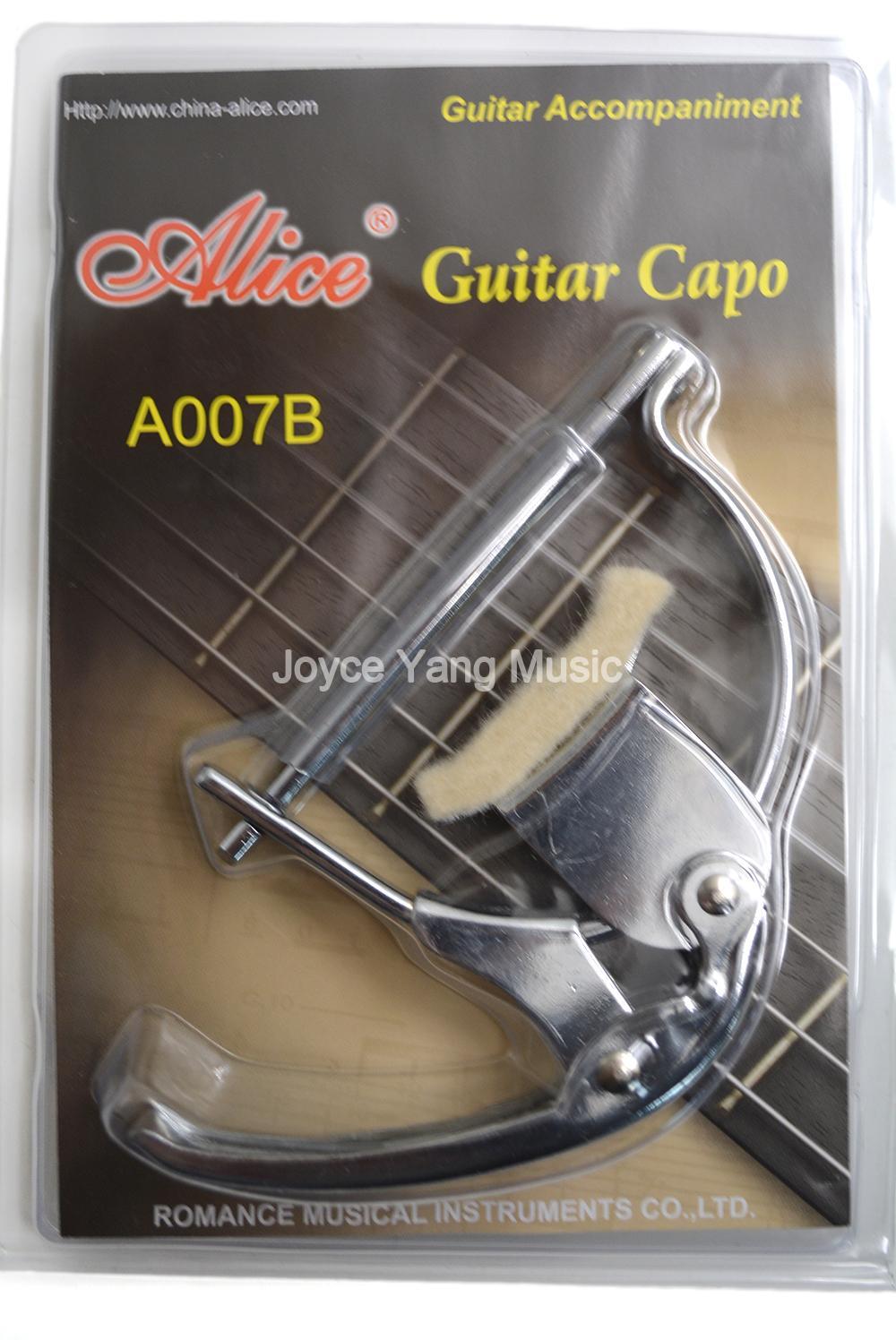 Alice A007B Krom Metal Yün Pad Klasik Gitar Capo Anahtar Kelepçe Değişim Ücretsiz Kargo Toptan Satış
