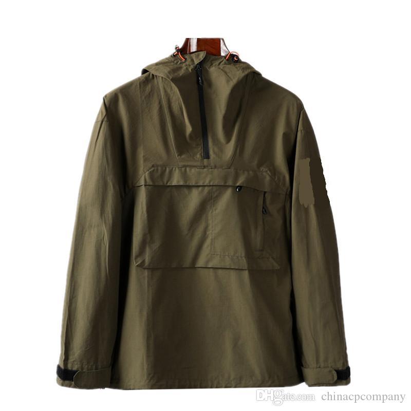 CPTOPSTONEY 후드 ZIP 지퍼 포켓 재킷 청소년 패션 유럽 및 미국 캐주얼 자켓 망 코트 나일론 원단 망 외장