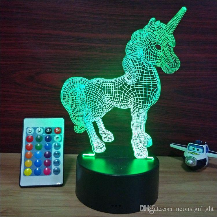 LED Death Star unicorn Elephant Caged bir fire dragon unicorn Neon Sign Light bedroom festival decoration christmas birthday Gifts Lighting