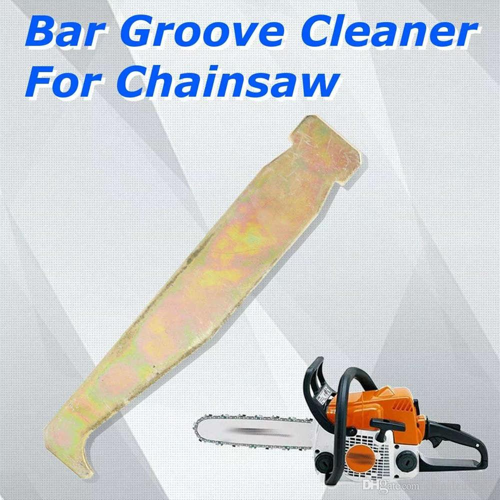 Cleaning Bar Groove Tool 2pcs Cleaner Chainsaw Chain Saw Part Carbon steel Parts