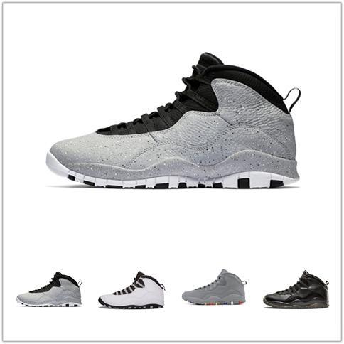 10 мужская баскетбольная обувь цемент я вернулся Уэстбрук прохладный серый инфракрасный стелс порошок синий 10s X спортивные кроссовки размер 7-12