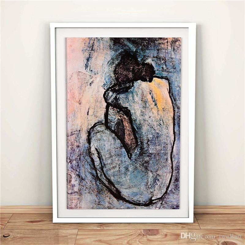 Pablo Picasso Blue Nude 1902 HD Canvas Posters Prints Wall Art Painting Decorative Picture Modern Home Decoration Accessories