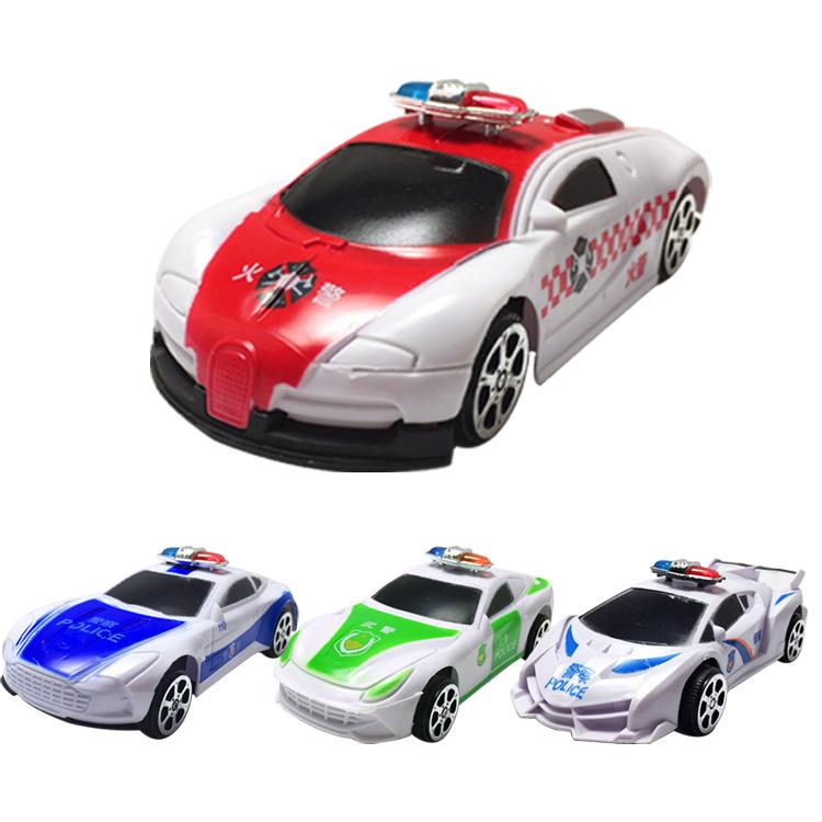 Factory direct sales cartoon toy car plastic spray paint Huili police car four Huili models model