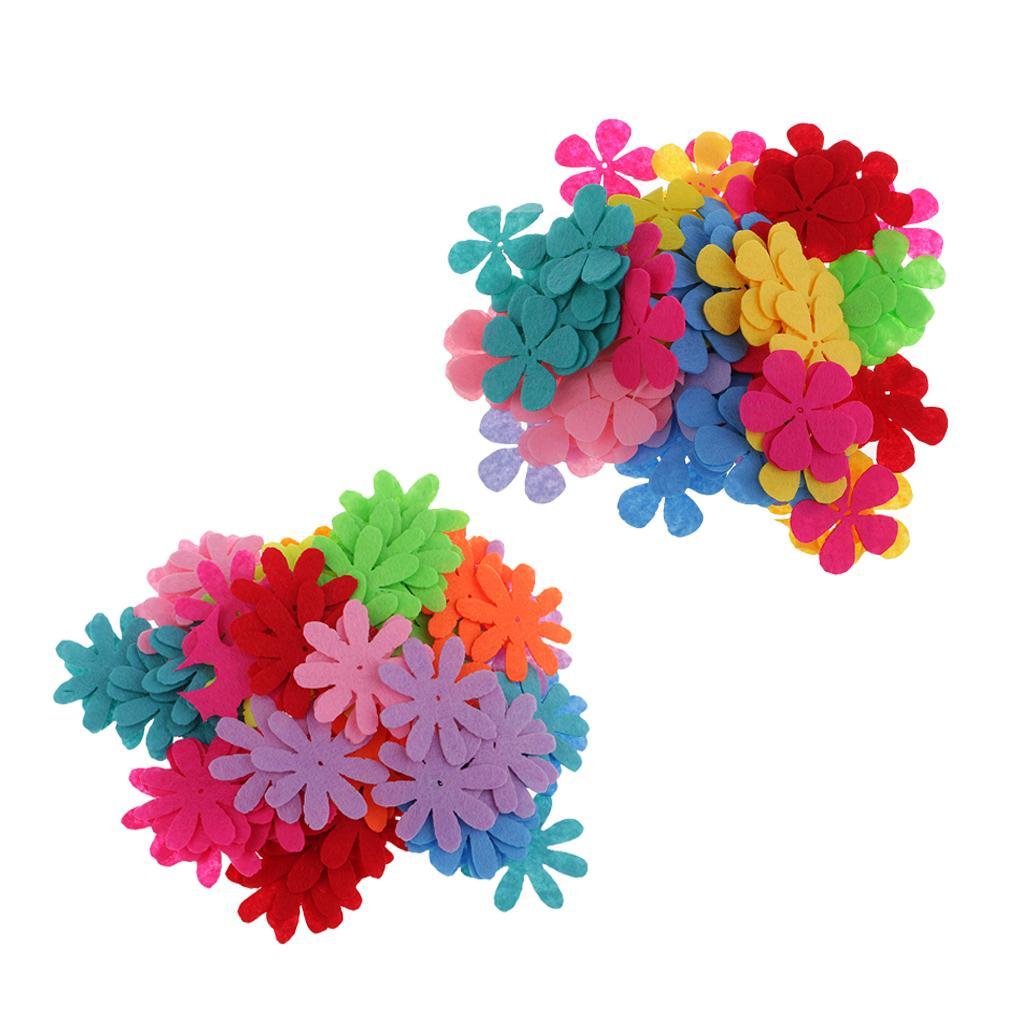 200 Pieces flores de feltro Felt Patches Enfeite DIY Artesanato Decoração