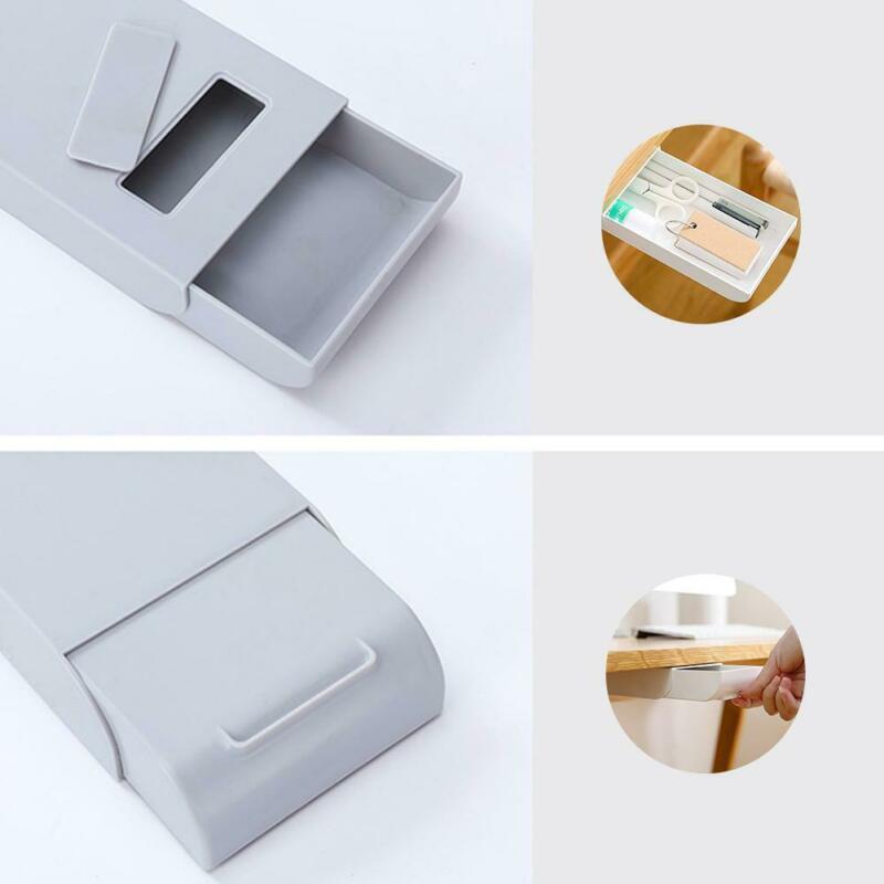 Stiftablage Selbststock Untertischhalter Pop Up Pen Lagerung Schublade Organizer Kit Tabelle Aufbewahrungsbehälter-Untertisch-Schublade-Halter-Kasten