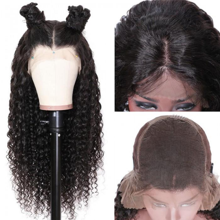 Tkwig Encaje Serie de cabello Glueless Lace Front Onda Profunda Pelo humano Encaje Grande Densidad para las mujeres negras