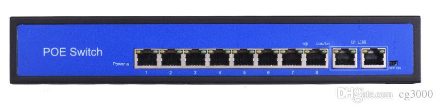 Commutateur POE 10 ports 1000 Mbits / s avec 48V Sortie 150W RJ45 30W IEEE802.3af au niveau du commutateur PoE Pour les caméras IP Caméra CCTV