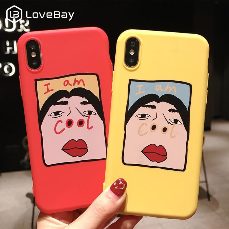 Lovebay silicone cas de téléphone pour iPhone X XR XS Max 8 7 6 5 s plus 6s SE drôle Motif cool souple TPU couverture arrière pour iPhone 11 Pro