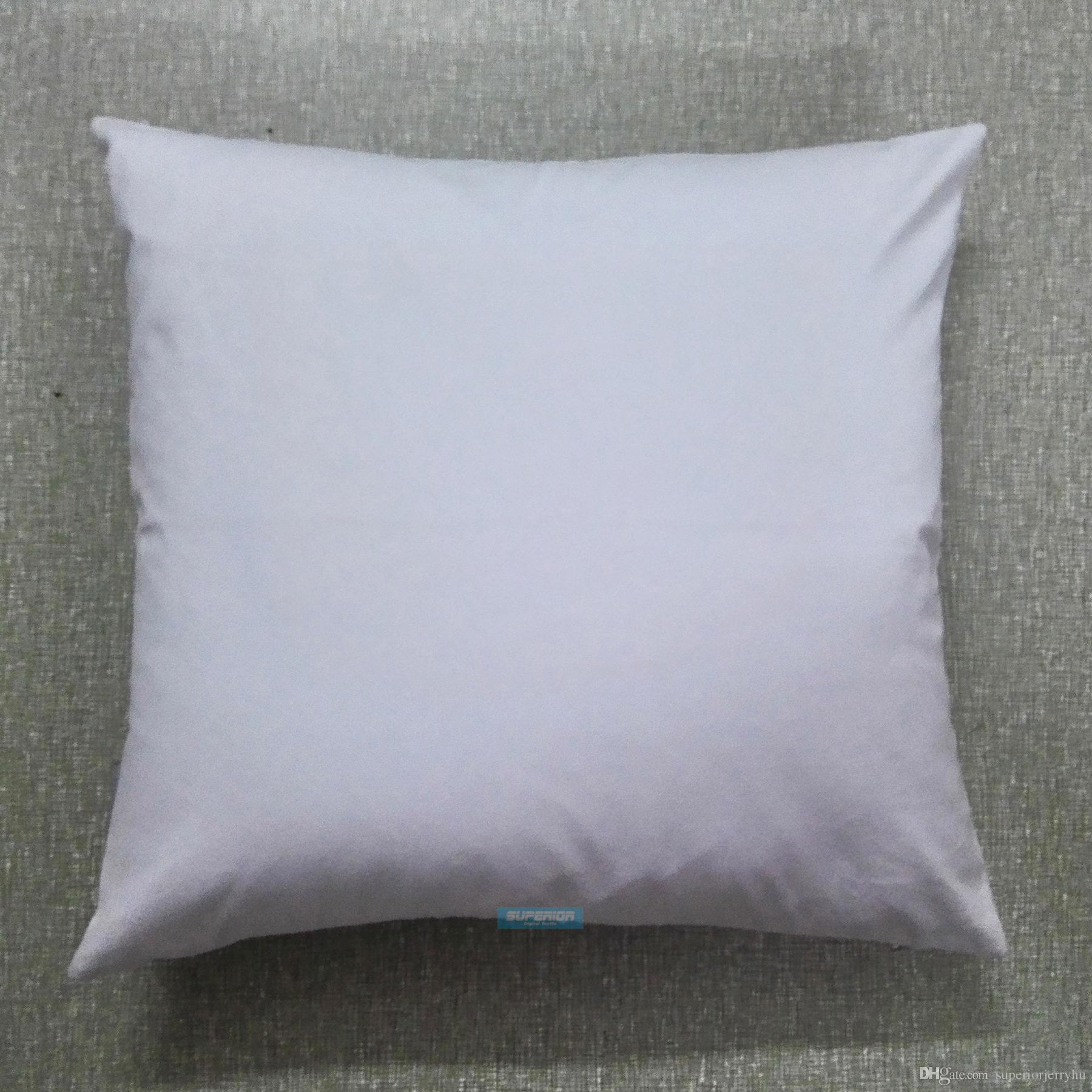 30pcs All Size Plain White Color Pure Cotton Canvas Pillow Cover With Hidden Zipper For Custom/DIY Print Blank Cotton Pillow Cover Any Color