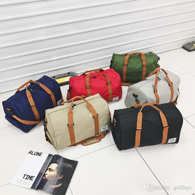 2021 Sport Outdoor-Kapazität 20-35L-Tasche Große Handtasche Tuch + Leinentaschen Wear-Resistent Oxford und Frauen Duffel Unisex Reisen Männer MVVNW