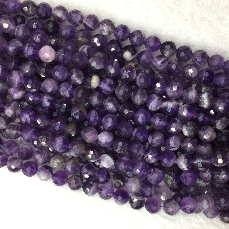 Amethyst Plain Coin Beads 5-6mm Purple 55 Pcs Handcut Gemstones DIY Jewellery