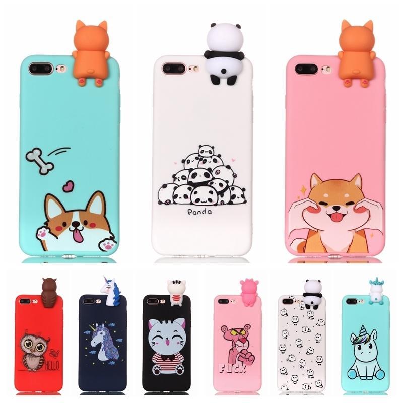 Iphone 7 7 Coque Için Coque Durumda 3d Unicorn Panda Köpek Silikon Kılıf Kapak Iphone 5 5 s Se 6 6 s 8 Artı X Xs Telefon Kılıfı Capinha