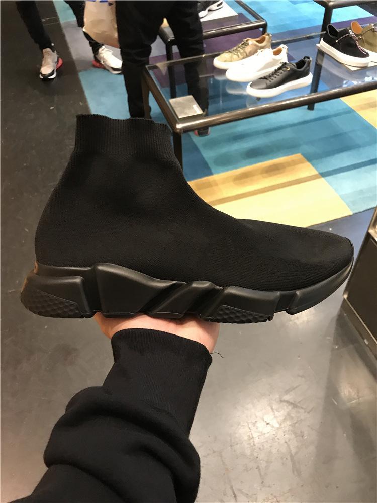 Nuovo allenatore velocità Nero Bianco in battuta delle donne degli uomini del calzino Scarpe Stella Sneaker aria Knit Runners sportive di alta qualità