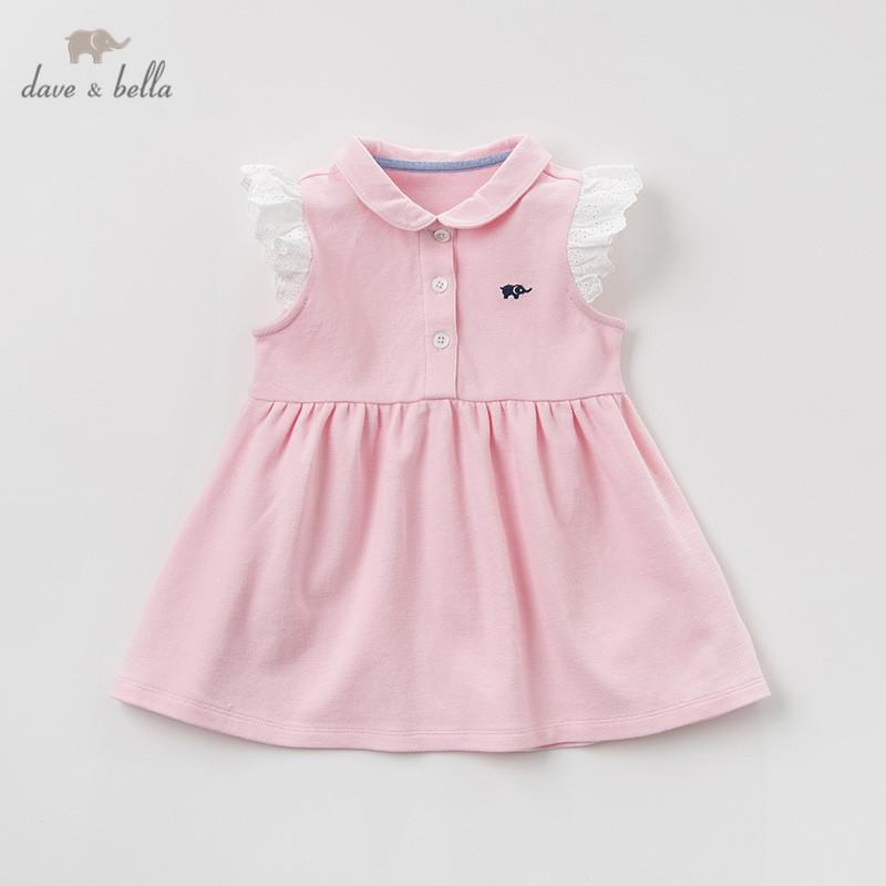 vestito della principessa dei capretti cute bambini solidi partito di modo vestiti lolita infantili DB10418 Dave estate bella neonata