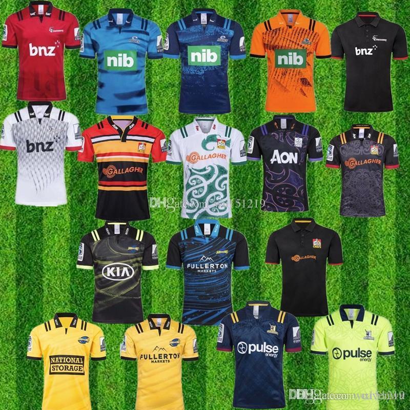 2019 2020 슈퍼 럭비 저지 뉴질랜드 슈퍼 블루스 태풍 십자군 고지 18 개 19 20 개 럭비 유니폼 셔츠
