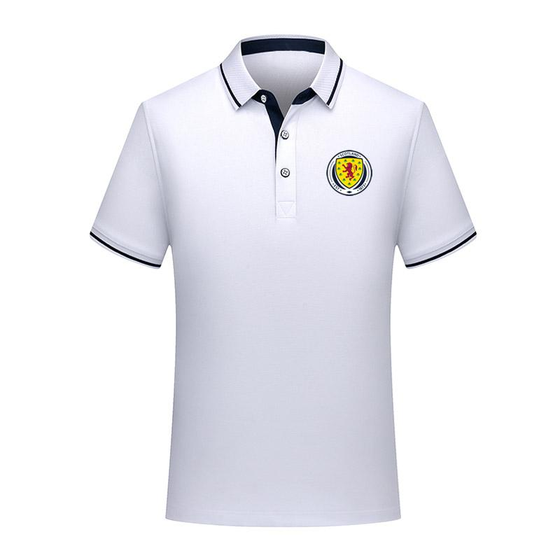 Дизайнер Шотландия национальная сборная летняя хлопчатобумажная рубашка поло Мужчины с коротким рукавом отворотом футбол мужчины поло рубашка тренировочный Джерси мужские Поло футболка
