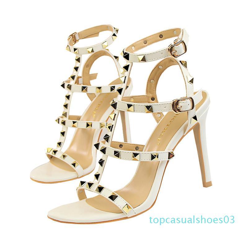 2020 womens slingbacks designer gladiator sandals rivet shoes black red nude white italian brand sexy extreme high heels pumps 01 03t