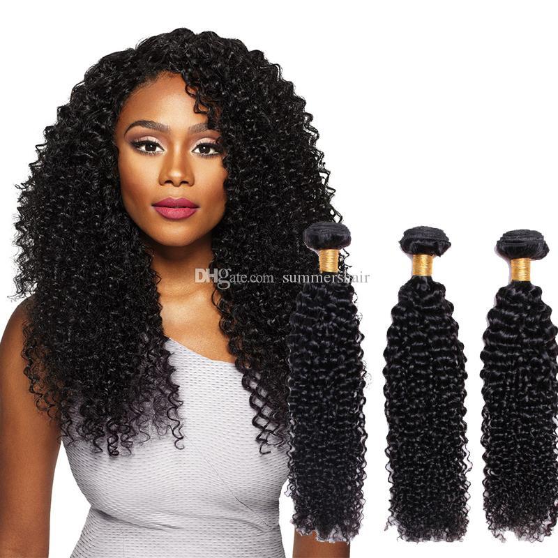 Бразильские афро кудрявые волосы 1/3/4 пучки предложения 8-28 дюймов без реми человеческих волос бразильские пучки волос