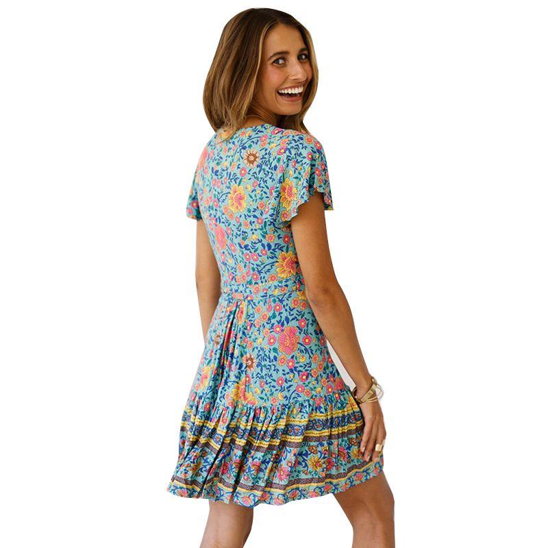 Amazon hot style low-cut top fashion designer design woman summer cloth short sleeve collect waist leisure