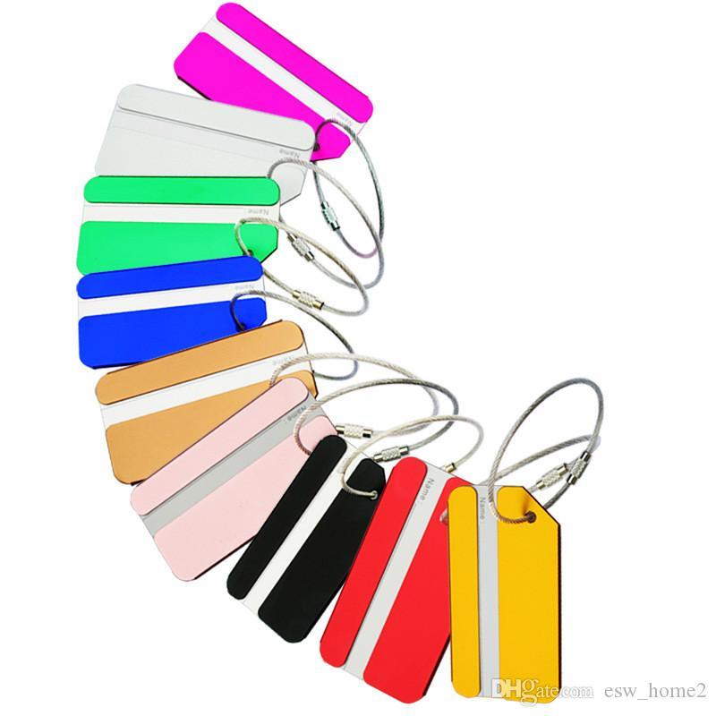 سبائك الألومنيوم الأمتعة العلامات حقيبة سفر حقيبة تسميات حامل اسم بطاقة الأشرطة حقيبة حقيبة اسم الحيوانات الأليفة العلامات